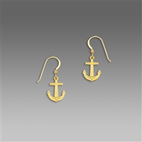 Sienna Sky Earrings- Polished Goldplated Anchor