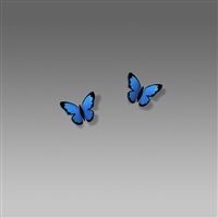 Sienna Sky Earrings-Blue Morpho Butterfly Studs