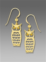 Sienna Sky Earrings-Gold-tone Laser Cut Textured Owl