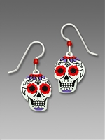 Sienna Sky Earrings-Day of the Dead Sugar Skull