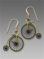 Sienna Sky Earrings-Antique Style Penny Farthing Bicycle