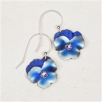 Holly Yashi Drop Earrings-Pansy-Blue