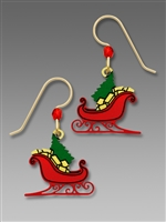 Sienna Sky Earring-Christmas Tree in Sleigh