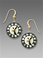 Sienna Sky Earrings - Antique Clock Face