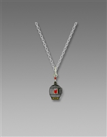 DISC. Sienna Sky Necklace-Red Bird in Black Cage