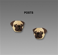 Sienna Sky Earrings-Small Pug Face Posts