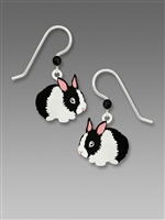 Sienna Sky Earrings - Black & White Bunny