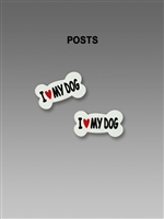 "Sienna Sky Earrings-Small ""I Love My Dog"" Bone Charm Post"