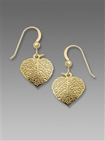 Sienna Sky Earrings - Veined Aspen Leaf