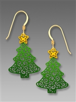 Sienna Sky Earrings - Filigree Christmas Tree with Star