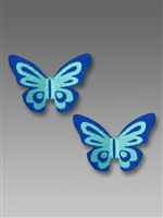 Sienna Sky Earrings-Small Blue 3D Butterfly Post