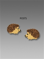 Sienna Sky Earrings-Small Handpainted Hedgehog Post