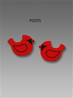 Sienna Sky Earrings-Red Cardinal Post