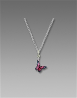 Sienna Sky Necklace- Pink Butterfly