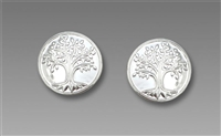 Sienna Sky Earrings- Small Silvery Tree of Life Post