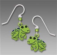 Sienna Sky Earrings-Bashful Green Spotted Frog Drop