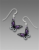 Seinna Sky Earrings-Bright Violet Butterflies