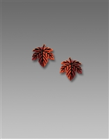 Sienna Sky Earrings-Small Maple Leaf Post
