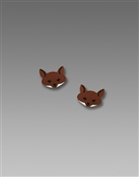 Sienna Sky Earrings-Small Fox Face Post
