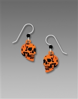 Sienna Sky Earrings - Orange Skull