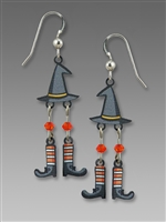 Sienna Sky Earrings - Witch Hat with Dangling Feet