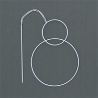 Sterling Silver Threaders- Double Circle