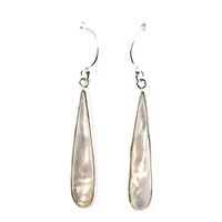 Sterling Silver Dangle Earrings- Mother of Pearl