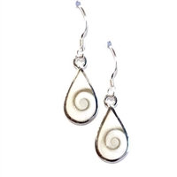 Sterling Silver Dangle Earrings- Shiva Shell