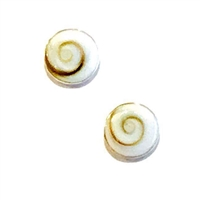 Sterling Silver Post Earrings- Shiva Shell