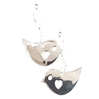 Sterling Silver Dangle Earrings- Love Birds