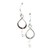 Sterling Silver Dangle Earrings- Freshwater Pearl