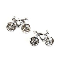 Sterling Silver Post Earrings- Bicycle