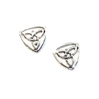 Sterling Silver Post Earrings- Celtic Trinity