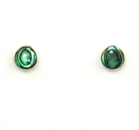 Sterling Silver Post Earrings- Abalone