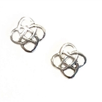 Sterling Silver Post Earrings- Celtic Knot