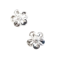 Sterling Silver Post Earrings- Buttercup Blossom with CZ