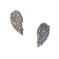 Sterling Silver Post Earrings- Angel Wings