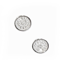 Sterling Silver Small Round Post Earrings- Cubic Zirconia
