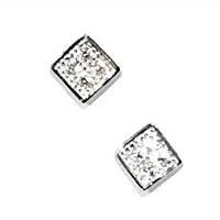 Sterling Silver Post Earrings- Cubic Zirconia