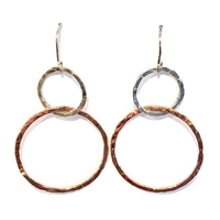 Copper & Sterling Silver Earrings