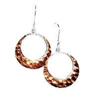 Sterling Silver & Copper Dangle Earrings