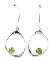 Sterling Silver Dangle Earrings- Peridot