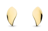 "18k Gold Plated ""Double Leaf"" Stud Earrings"