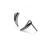 "Ruthinium Plated Sterling Silver ""Twine Thorn"" Mini Stud Earrings"