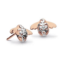 Rose Gold Filled Blossom Bumblebee Stud Earrings