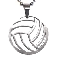 Stainless Steel Necklace/Pendant- Volleyball