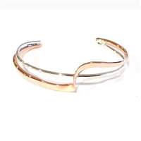 Sterling Silver & Copper Cuff Bracelet