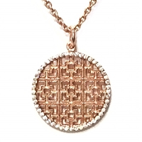 "22k Rose Gold Plated Necklace -""Throne"""