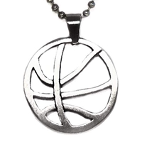 Stainless Steel Necklace/Pendant- Basketball