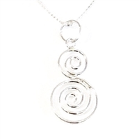 Sterling Silver Pendant- Small Double Spiral